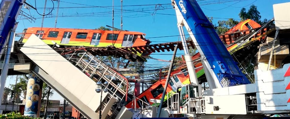 Accident on Line 12 in the Mexico City metro