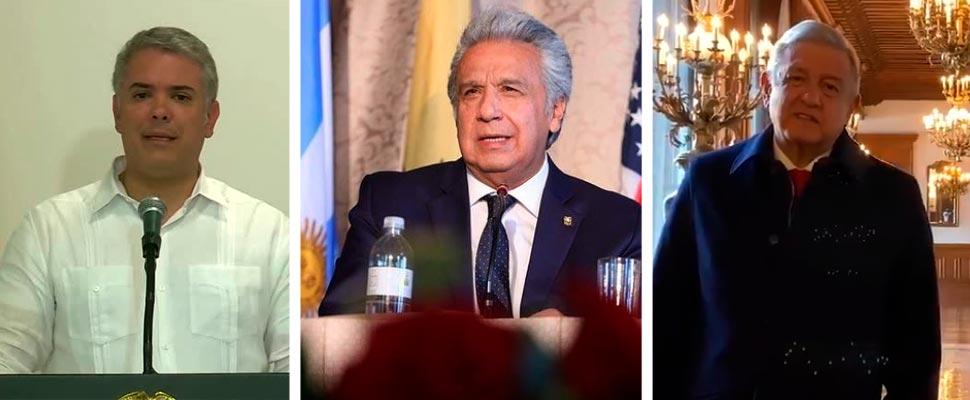 Iván Duque, Lenín Moreno and AMLO