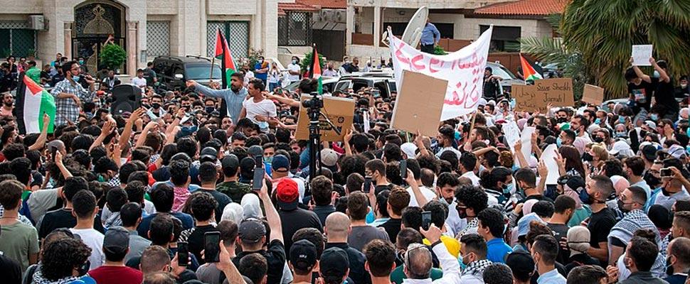 Demonstrations in solidarity with Sheikh Jarrah in Amman, Jordan