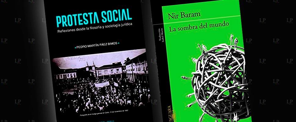 Portadas de los libros 'Protesta social: reflexiones desde la filosofía y sociología jurídica' y 'La sombra del mundo'