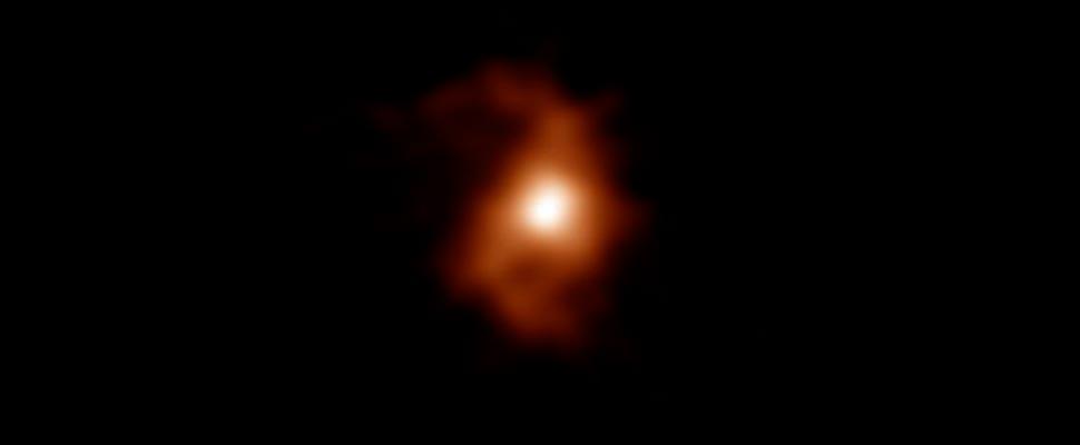 Imagen de ALMA de la galaxia BRI 1335-0417 hace 12.400 millones de años
