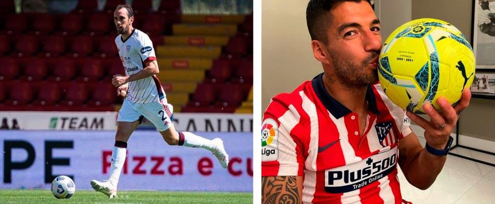Diego Godín and Luis Suárez