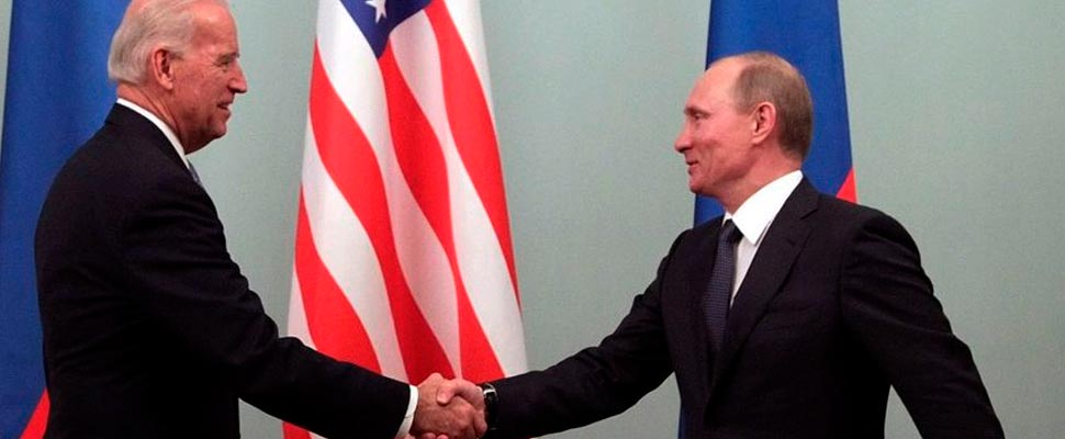 Joe Biden and Bladimir Putin
