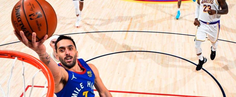 Facundo Campazzo in an NBA game