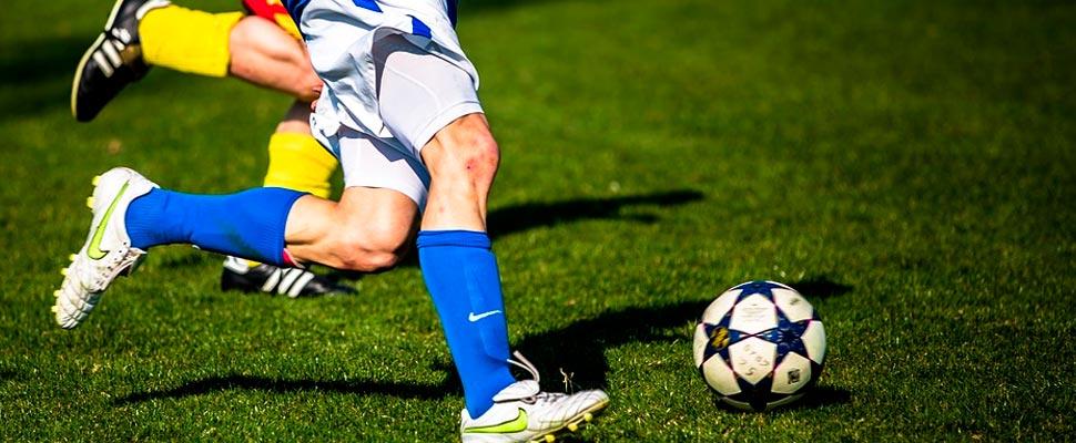 Jugadores de fútbol durante un partido