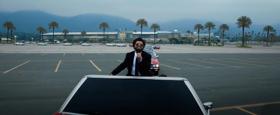 The Weekend at the 2021 Billboard ceremony