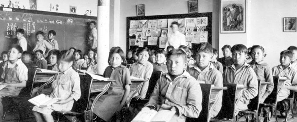 Children at Kamloops Indian Residential School