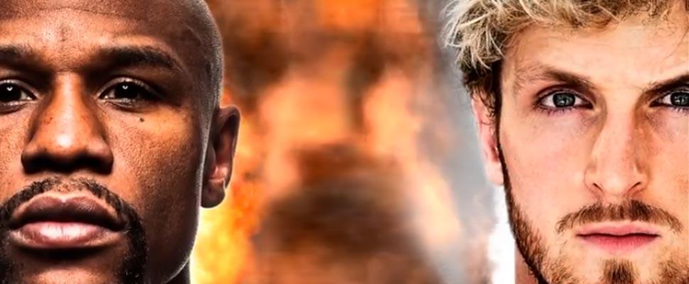 Póster de la pelea entre Floyd Mayweather y Logan Paul