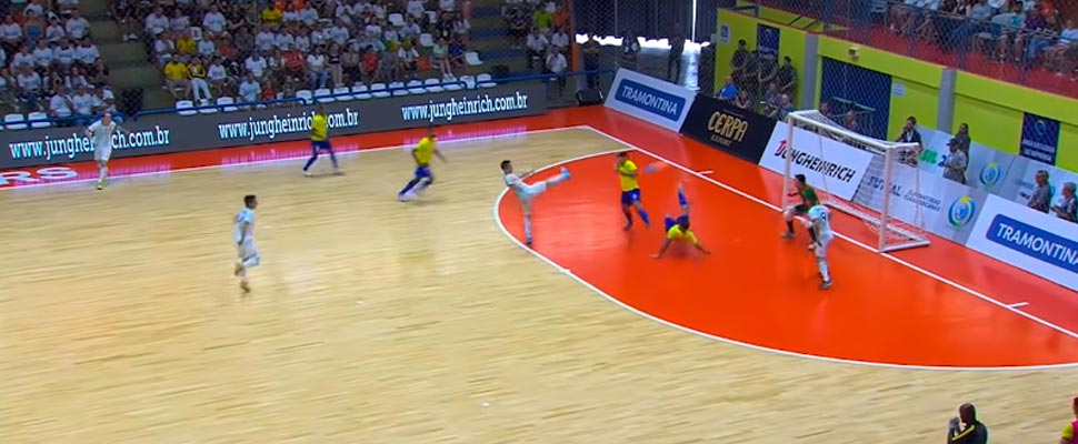 Futsal match between the Brazilian team and Argentina