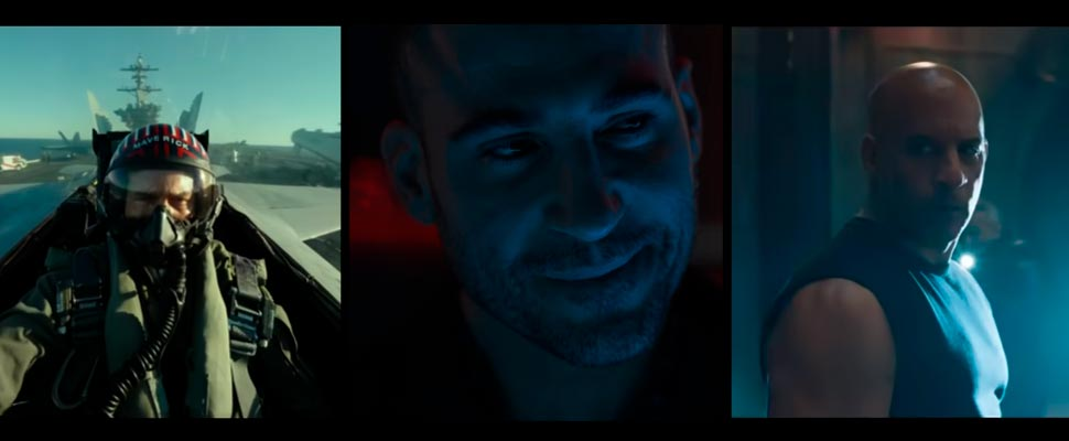 Fotograma de 'Top Gun: Maverick', 'Sky Rojo', 'Rápidos y Furiosos 9'