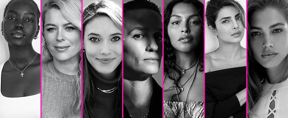 Adut Akech, Amanda de Cadenet, Eileen Gu, Megan Rapinoe, Paloma Elsesser, Priyanka Chopra, Valentina Sampaio