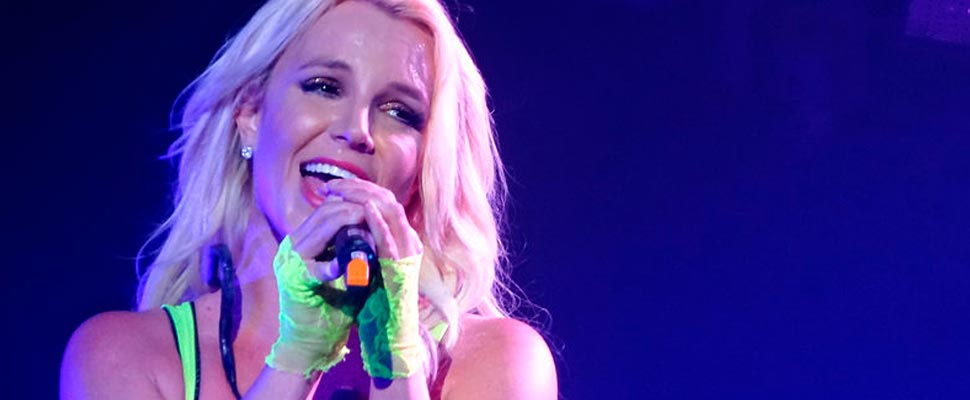 Britney Spears during a concert