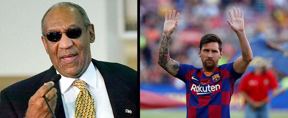 Bill Cosby and Leo Messi