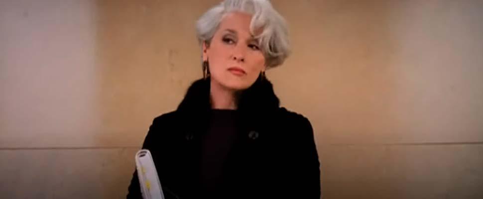 Frame from the movie 'The Devil Wears Prada'