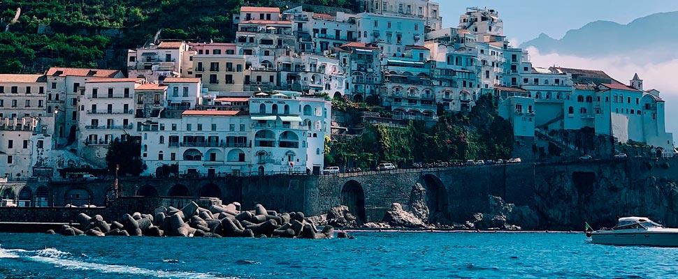 Coastal town in Italy