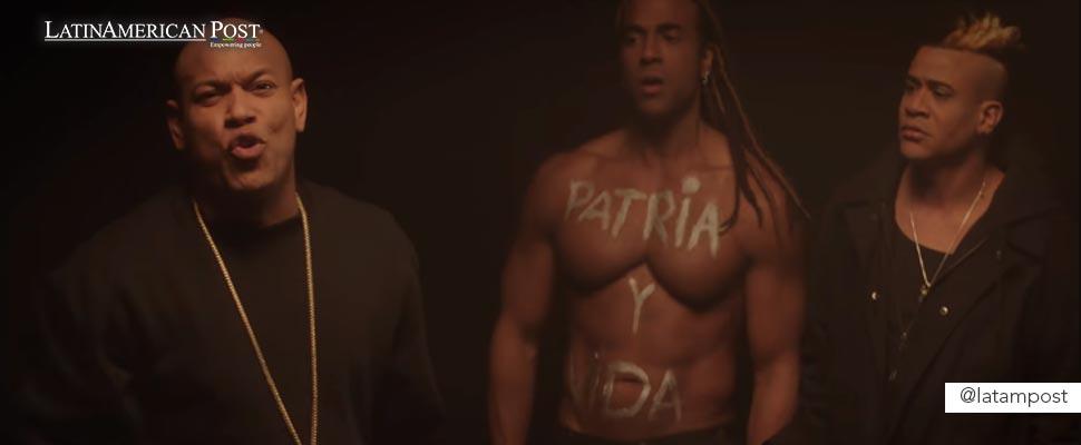 Still from the video clip 'Patria y Vida'