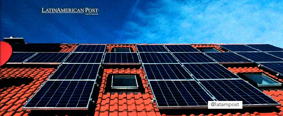 Solar panel system on a roof