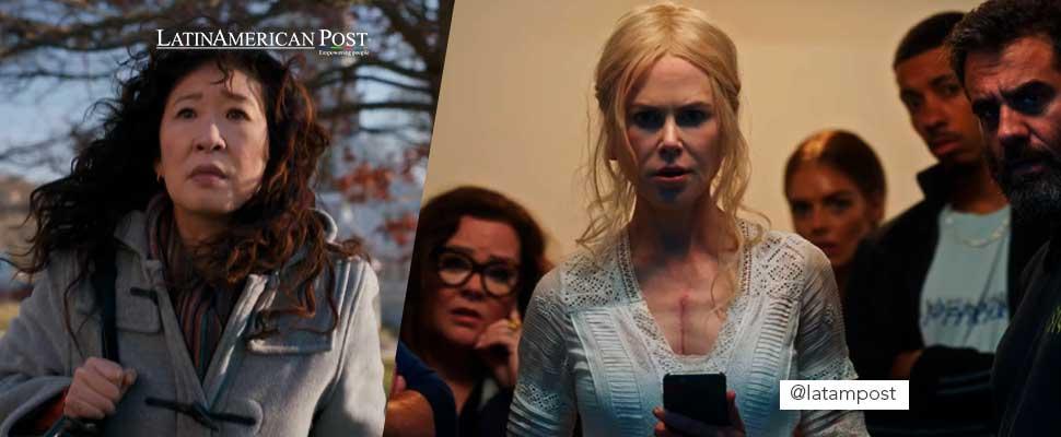 Fotograma de la serie 'La Directora' y 'Nine Perfect Strangers'