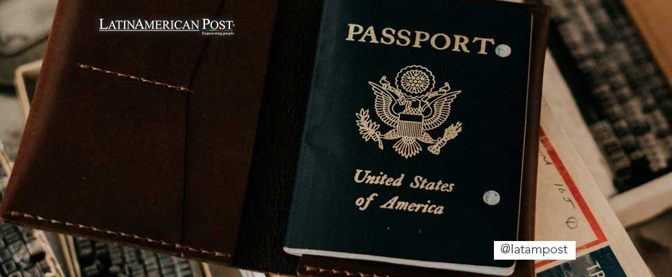 United States passport on a table