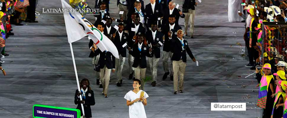 Refugee team at the Olympics