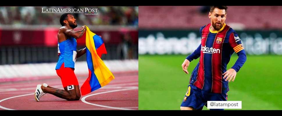 Anthony Zambrano and Leonel Messi
