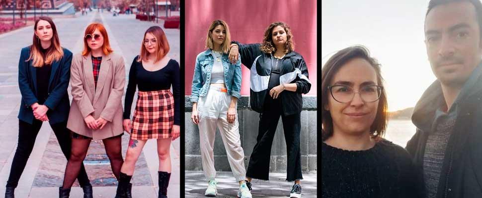 Members of podcasts 'Chicas Bien', 'Se Regalan Dudas' and 'Las Raras'