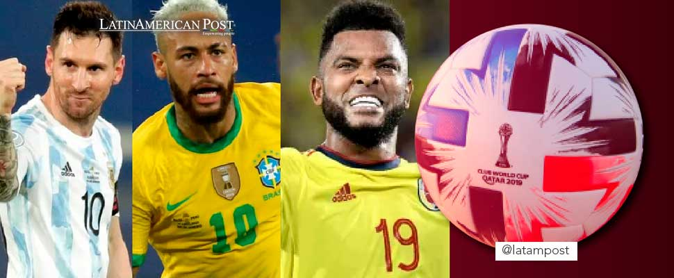 Leo Messi, Neymar and Miguel Borja