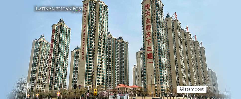 Residential buildings developed by Evergrande in Pingyuan