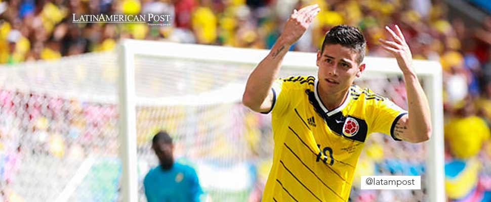 James Rodríguez in the Colombia team