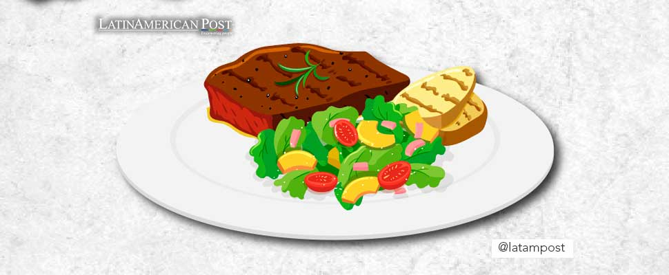 Vector of a plate of food