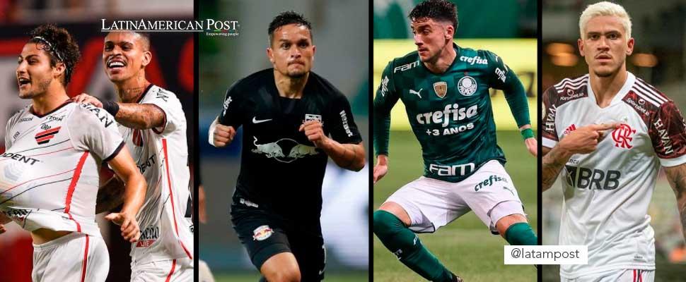 Players from Atlético Paranaense, Bragantino, Palmeiras and Flamengo