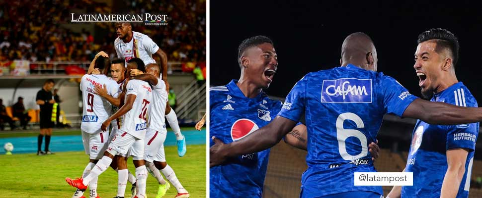 Sports Tolima and Millonarios FC players
