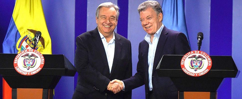 "Colombia: ONU ratifica su ""compromiso total"" con la paz"