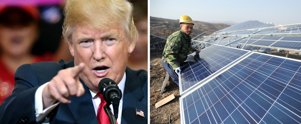 Why did Trump's new solar panel tariff draw criticism?