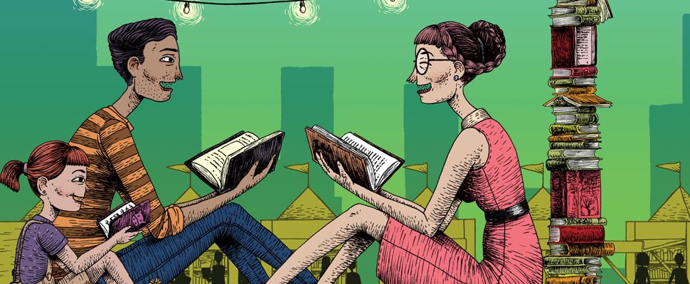 Bogotá: el Parque de la 93 se llena de libros