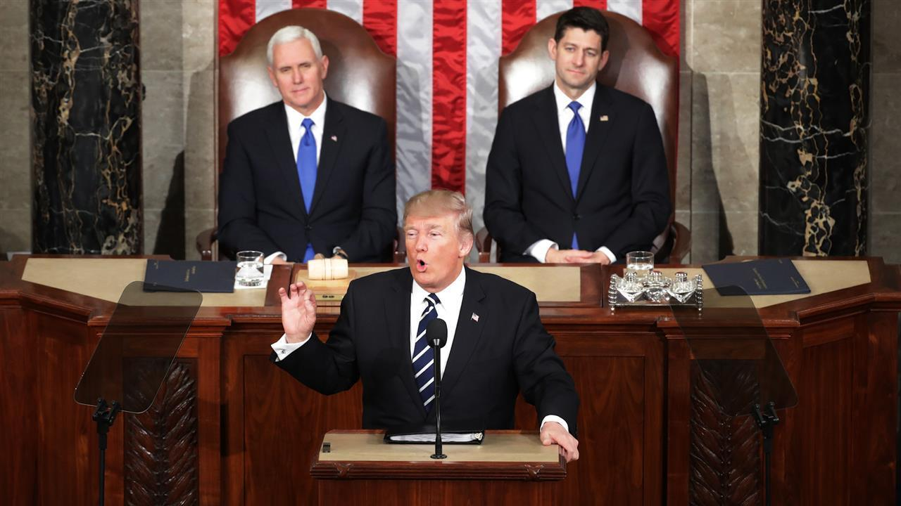 What was Donald Trump's message in the State of the Union?