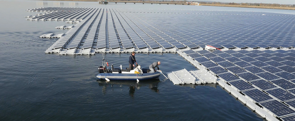 The Netherlands will have the first solar power plant in the sea
