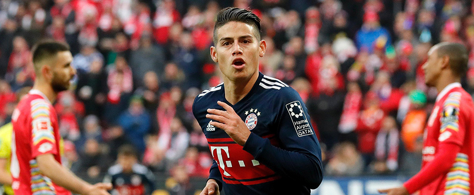 What is the fate of James Rodriguez?