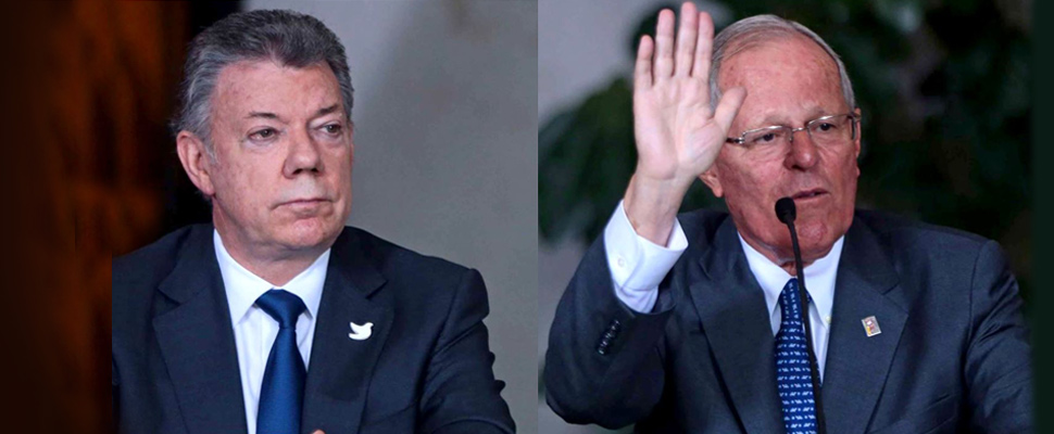 Kuczynski y Santos: Venezuela es un tema prioritario en la agenda binacional