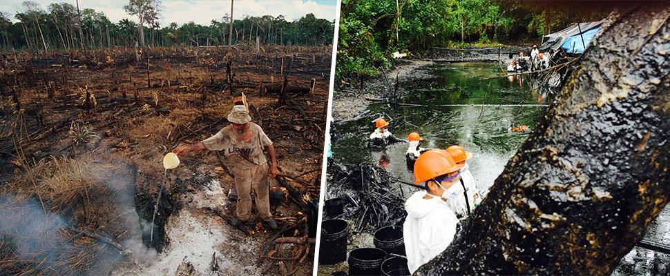 La Amazonía, entre el fuego y el petróleo