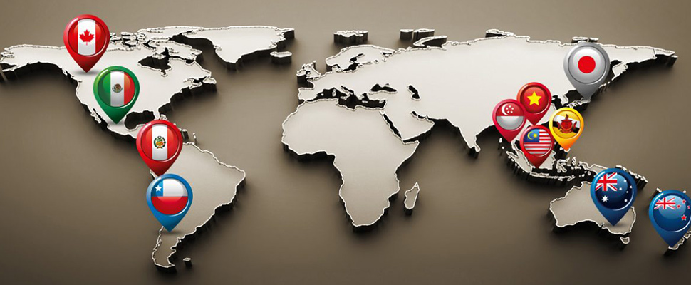 Mapa Tratado Integral y Progresista de Asociaciu00f3n Transpacu00edfico