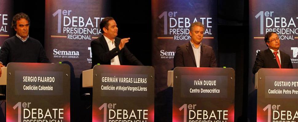 Los candidatos a la presidencia dieron su primer abrebocas televisado