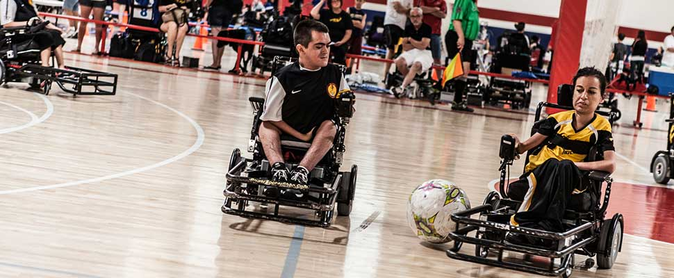 People can now play soccer in a wheelchair