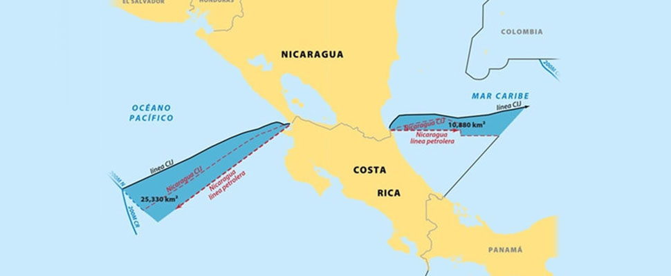 Costa Rica presents its updated map after its victory in The Hague