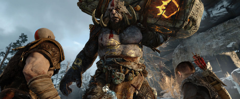 Captura directa del video juego God of War 4