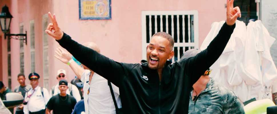 What has shooting Will Smith's new film in Colombia been like?