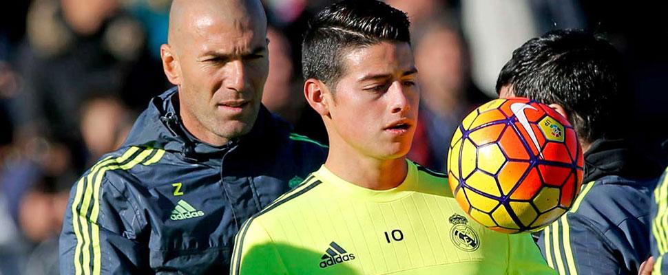 Conozca las razones por las que James no pudo triunfar en el exitoso ciclo de Zinedine Zidane