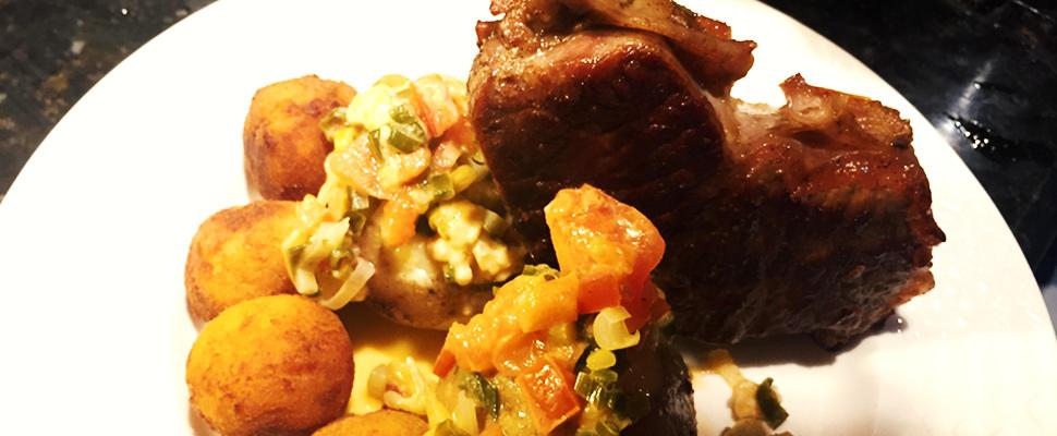 En video: un provocativo plato de carne, papas y plátano de Argentina y Colombia para descrestar