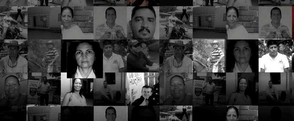 Después de la firma de los acuerdos de paz entre las FARC y el Gobierno Nacional colombiano han aumentado los asesinatos de líderes sociales en Colombia
