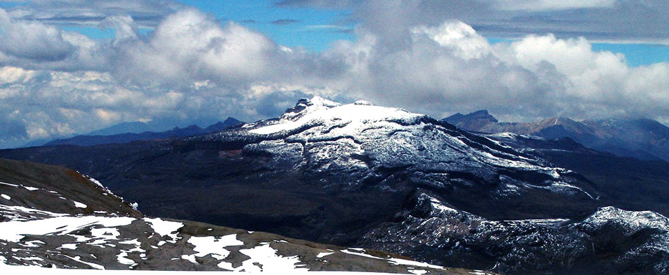 The slow but incessant decline of glaciers in Colombia